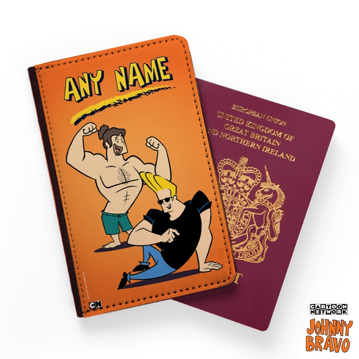 Johnny Bravo Guys Orange Passport Cover - Image 1