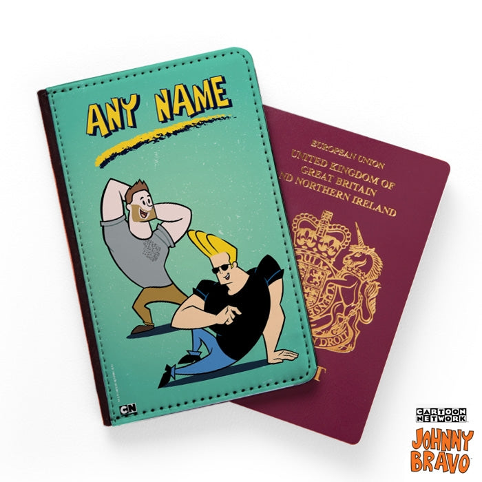Johnny Bravo Guys Distressed Mint Passport Cover - Image 1