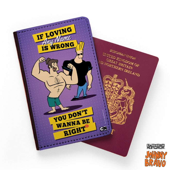 Johnny Bravo Guys Loving Me Passport Cover - Image 1