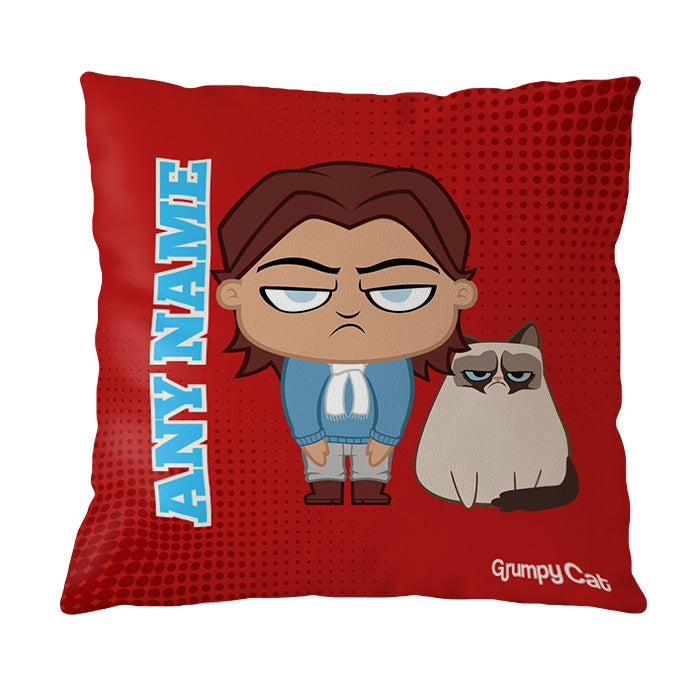 Grumpy Cat Red Cushion - Image 1