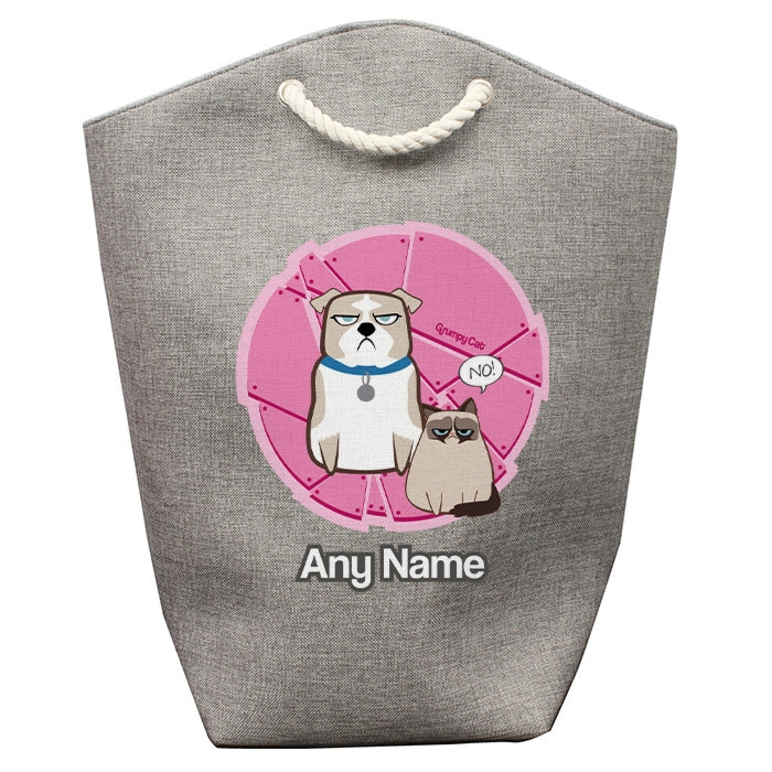 Grumpy Cat Pink Pet Storage Bag - Image 1