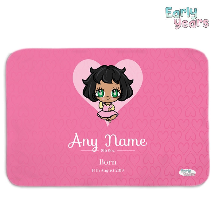 Early Years Baby Pink Fleece Blanket - Image 1
