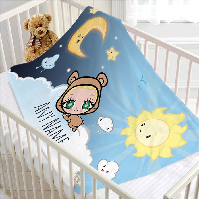 Early Years Sun & Moon Fleece Blanket - Image 4
