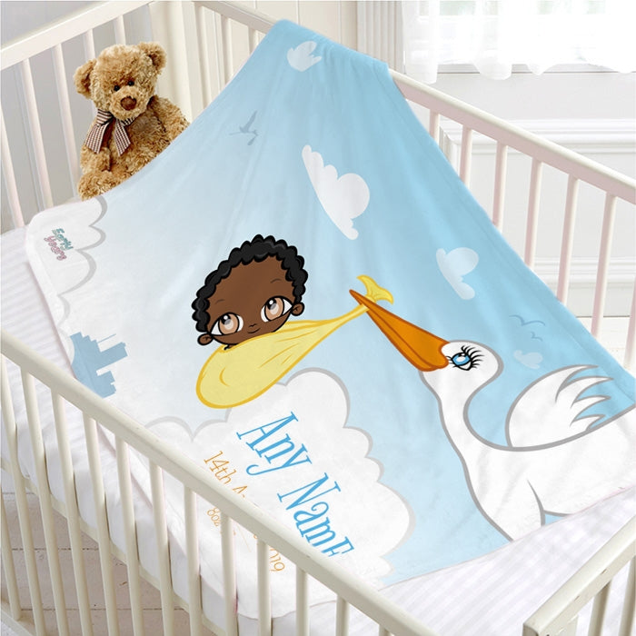 Early Years Baby Stork Fleece Blanket - Image 1