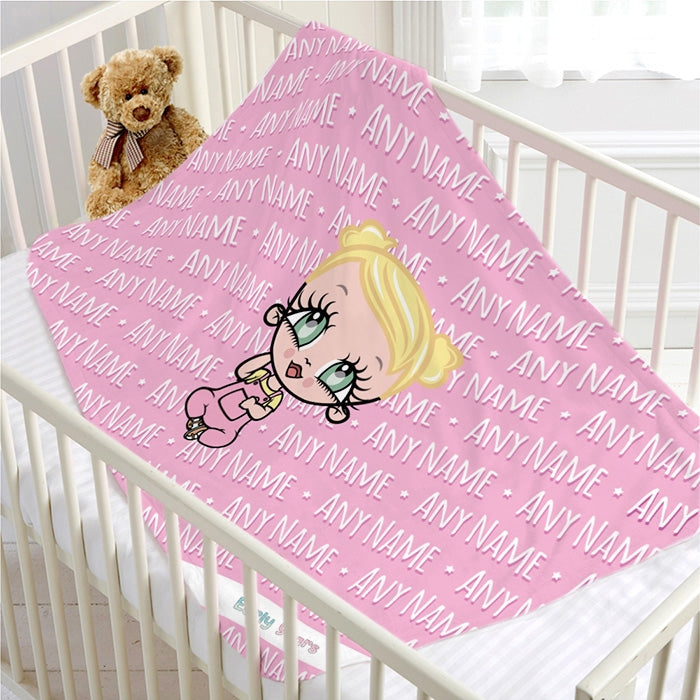 Early Years Pink Typography Fleece Blanket - Image 1