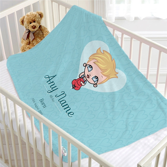 Early Years Baby Blue Fleece Blanket - Image 1