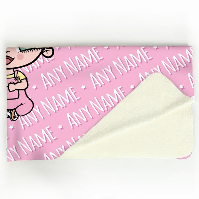 Early Years Pink Typography Fleece Blanket - Image 4