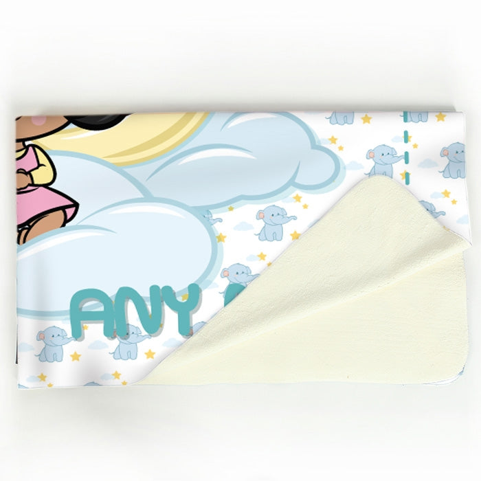 Early Years Blue Dreamy Elephant Fleece Blanket - Image 4