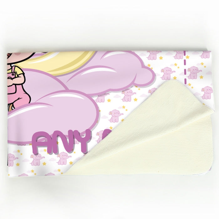 Early Years Pink Dreamy Elephant Fleece Blanket - Image 3