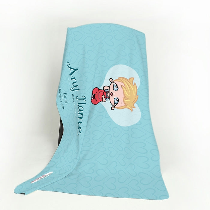 Early Years Baby Blue Fleece Blanket - Image 3