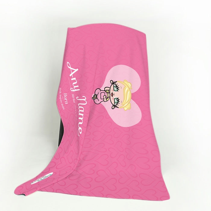 Early Years Baby Pink Fleece Blanket - Image 3