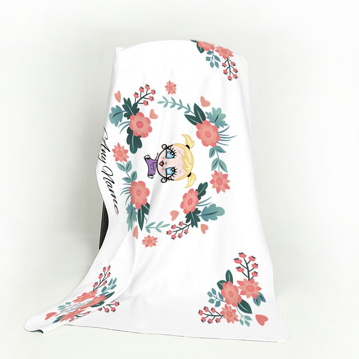 Early Years Classic Floral Fleece Blanket - Image 4