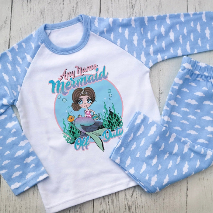 ClaireaBella Girls Mermaid Pyjamas - Image 1