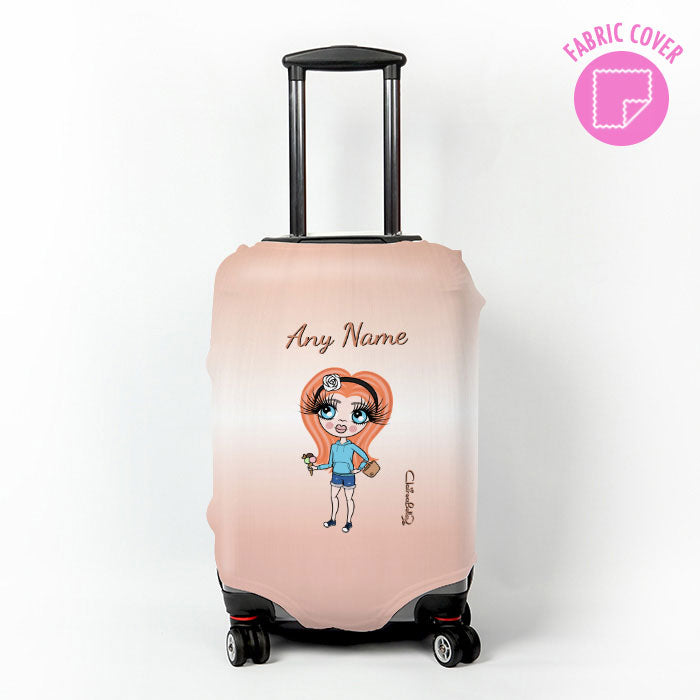 ClaireaBella Girls Blush Suitcase Cover