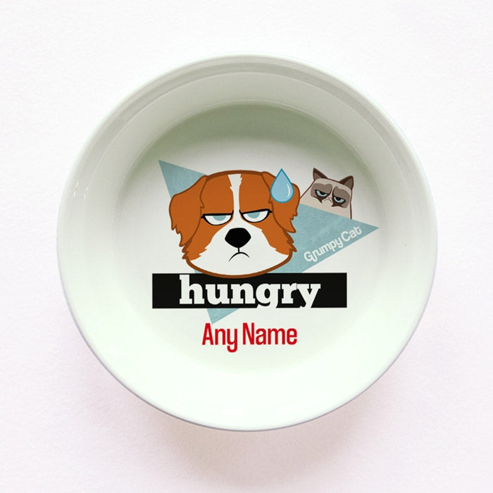 Grumpy Cat Hungry Small Dog Bowl - Image 1