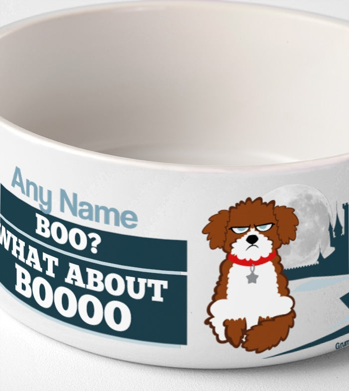 Grumpy Cat Boooo Dog Bowl - Image 3