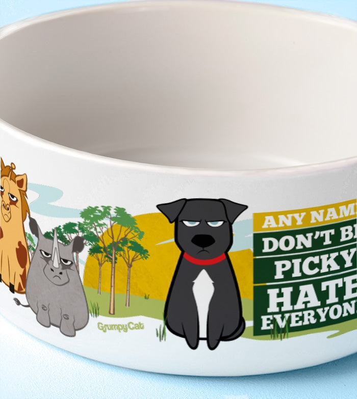 Grumpy Cat Hate Everyone Dog Bowl - Image 3