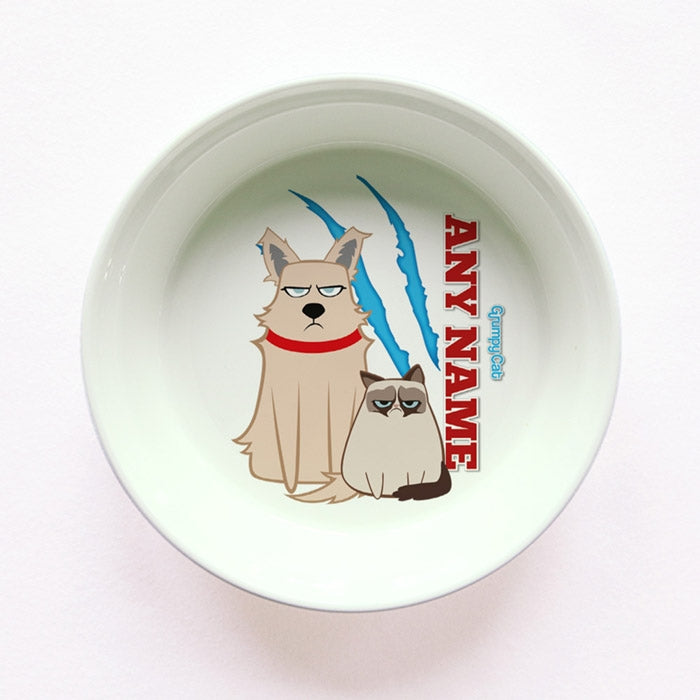 Grumpy Cat Claw Scratch Small Dog Bowl - Image 1
