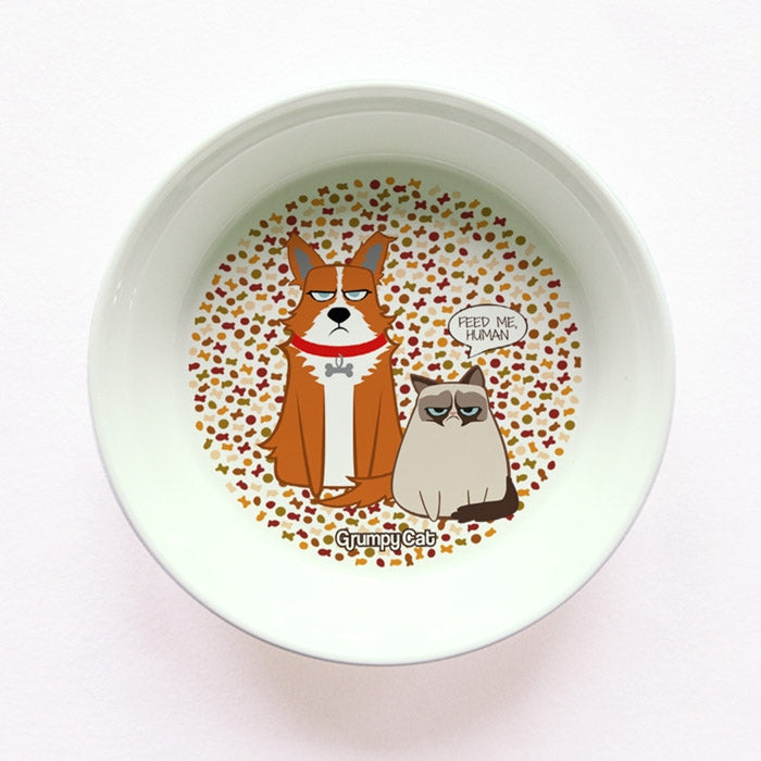 Grumpy Cat Feed Me Small Dog Bowl - Image 1