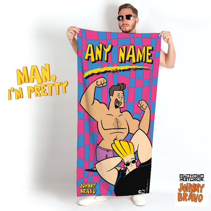 Johnny Bravo Guys Disco Squares Beach Towel - Image 2