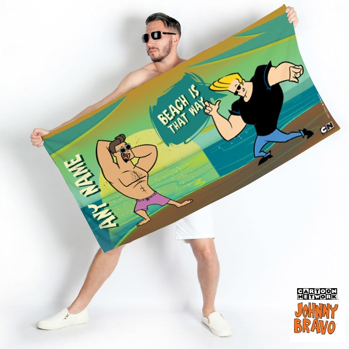 Johnny Bravo Guys That Way Beach Towel - Image 1