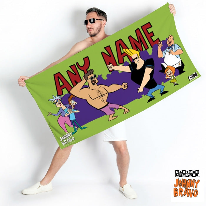 Johnny Bravo Guys Monkey Dance Beach Towel - Image 1