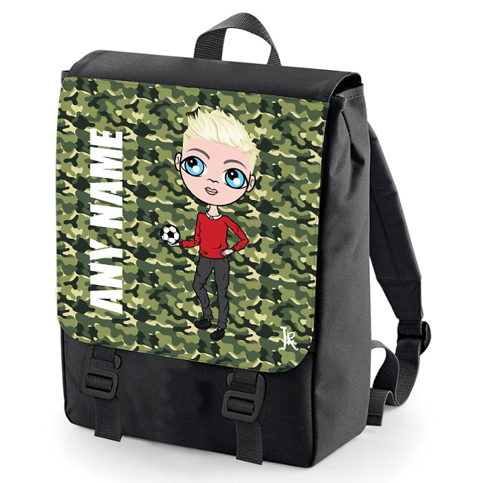 Jnr Boys Camouflage Print Backpack - Image 1