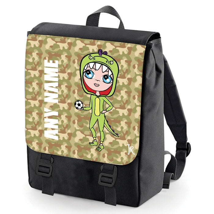 Jnr Boys Camouflage Print Backpack - Image 3