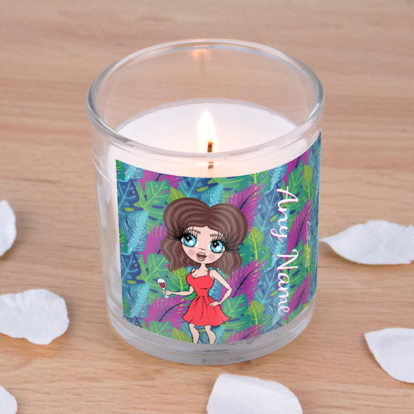 ClaireaBella Neon Leaf Scented Candle - Image 1