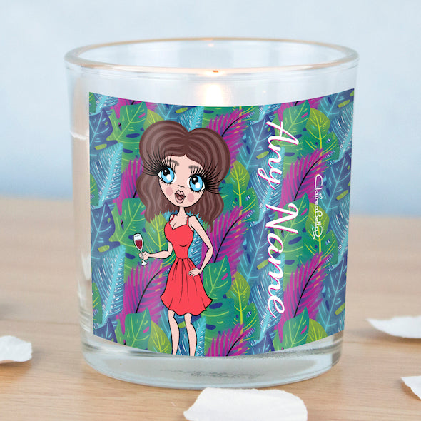 ClaireaBella Neon Leaf Scented Candle - Image 3