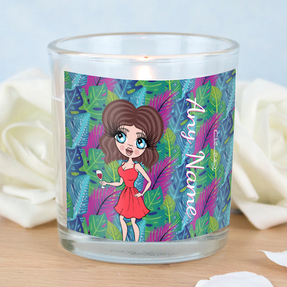 ClaireaBella Neon Leaf Scented Candle - Image 2