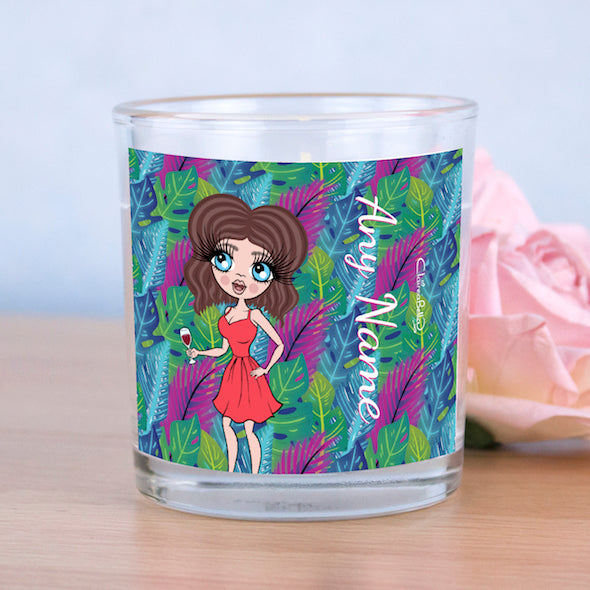 ClaireaBella Neon Leaf Scented Candle - Image 4
