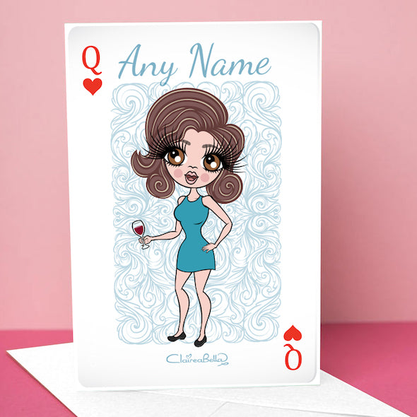 ClaireaBella Queen Of Hearts Greetings Card - Image 1