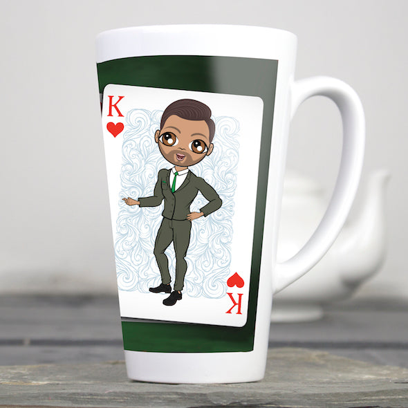 MrCB King Of Hearts Latte Mug - Image 1