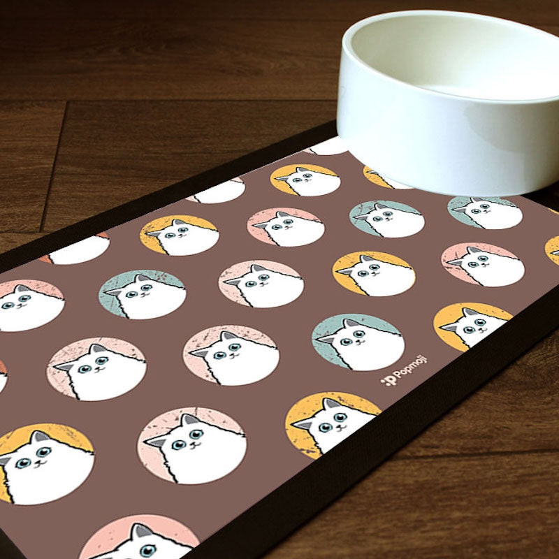 Personalised Cat Emoji Pet Mat - Image 1