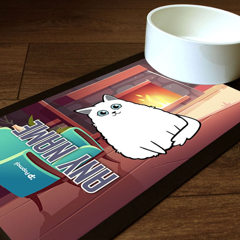 Personalised Cat Fireplace Pet Mat - Image 1