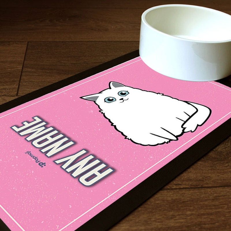 Personalised Cat Pink Pet Mat - Image 1