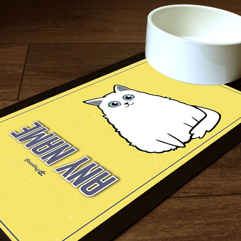 Personalised Cat Yellow Pet Mat - Image 1