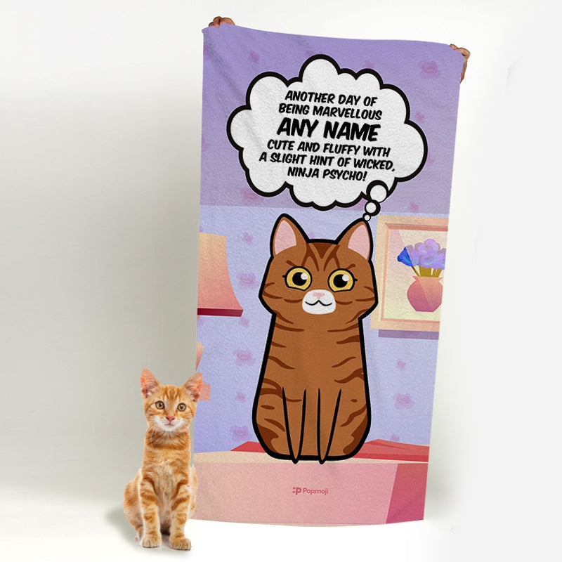 Personalised Cat Cute And Fluffy Bath Towel - Image 4