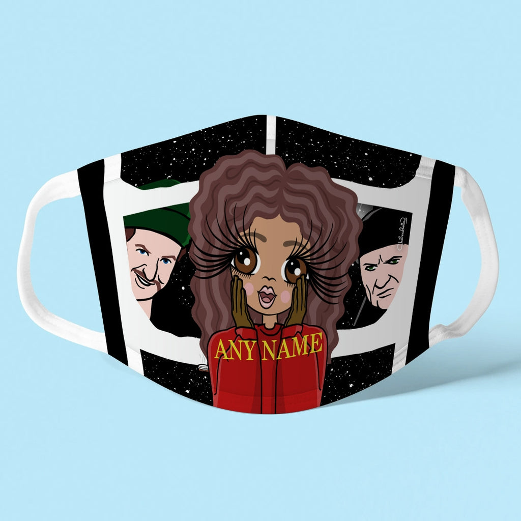 ClaireaBella Personalised Alone At Home Reusable Face Covering - Image 1