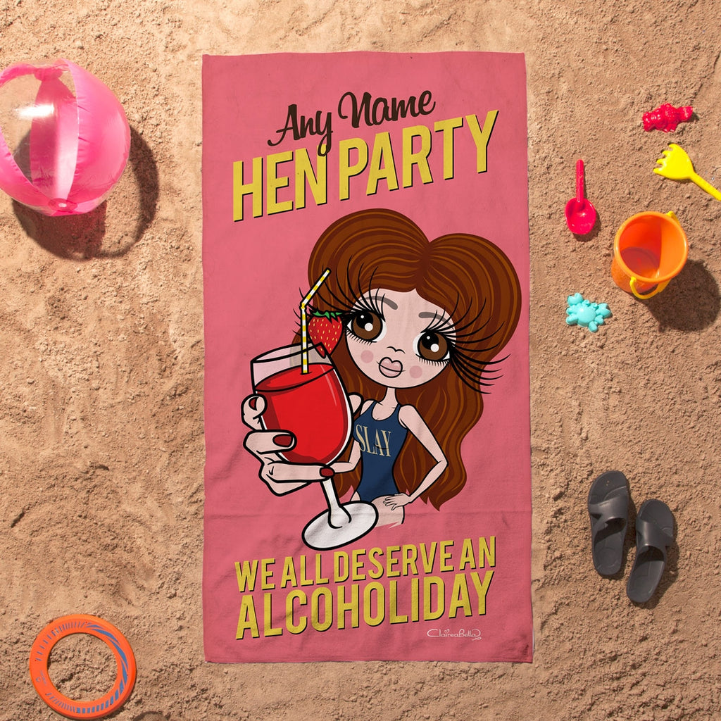 ClaireaBella Alcoholiday Hen Party Beach Towel - Image 1