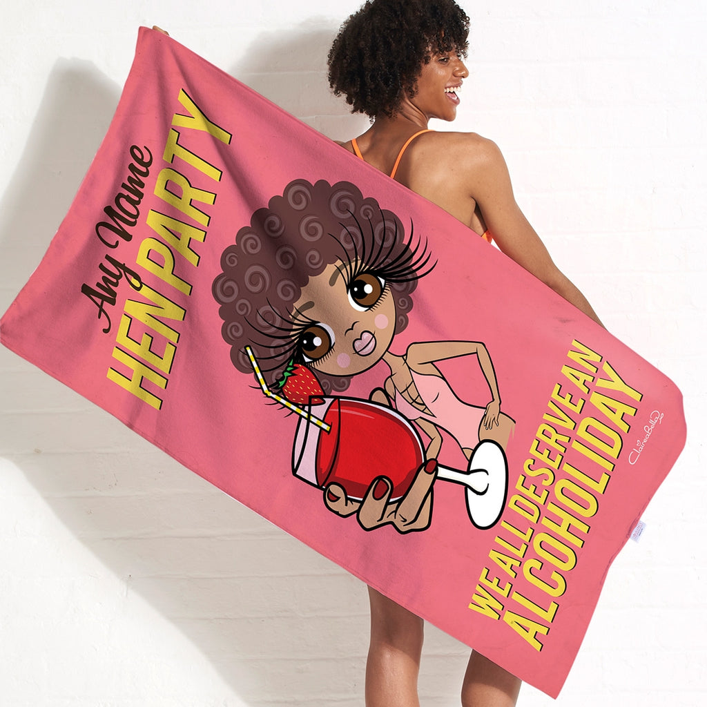 ClaireaBella Alcoholiday Hen Party Beach Towel - Image 2