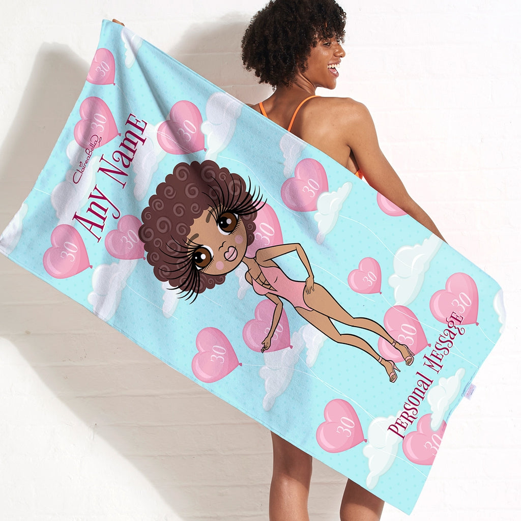 ClaireaBella Balloon Party Beach Towel - Image 1