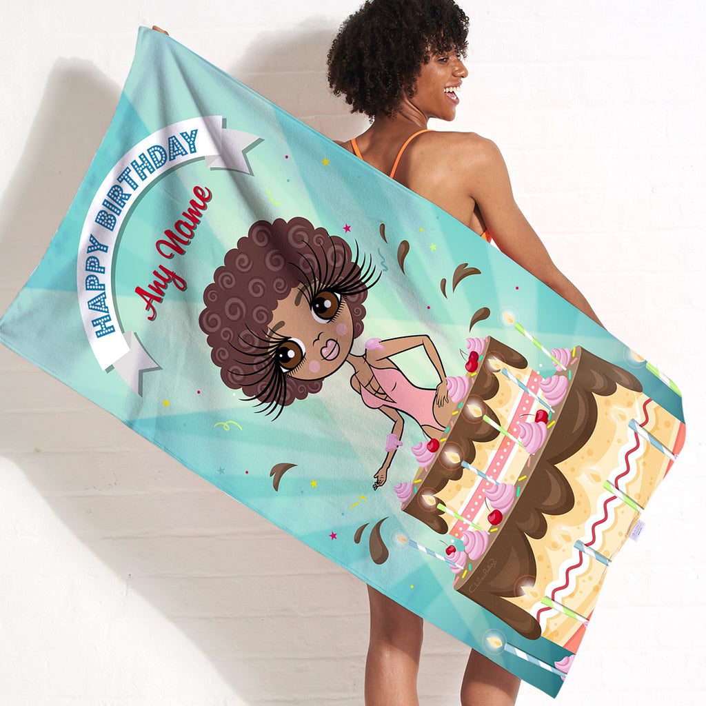 ClaireaBella Cake Surprise Beach Towel - Image 3