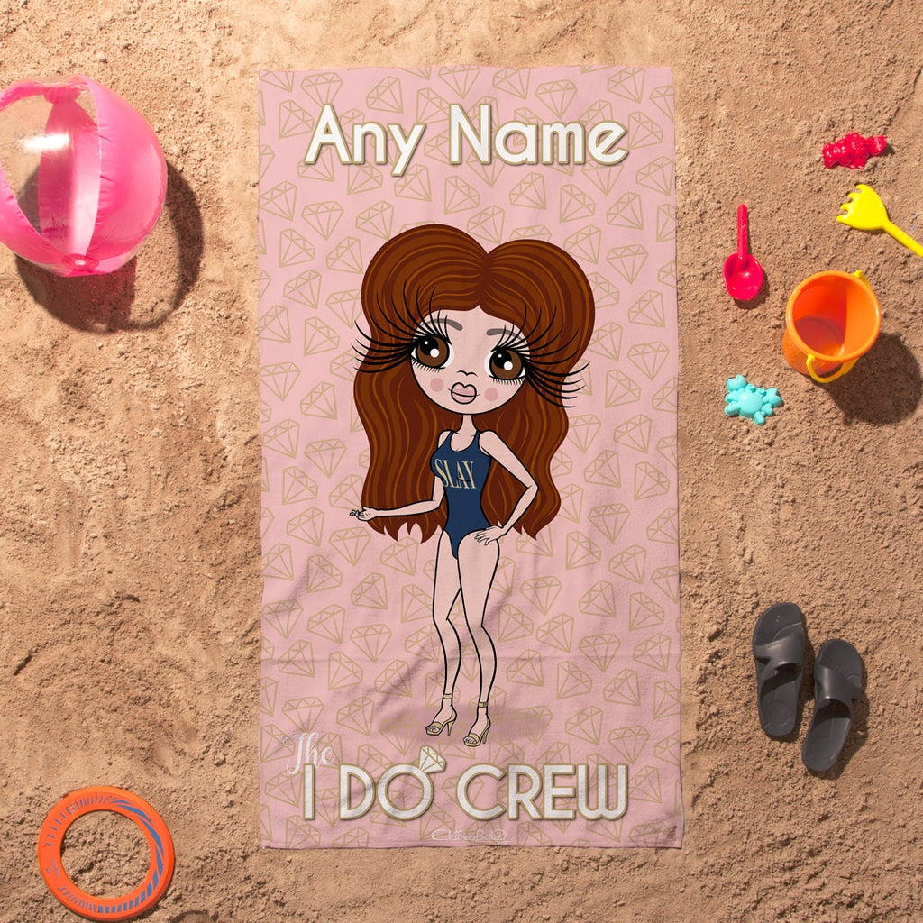 ClaireaBella I Do Crew Beach Towel - Image 3