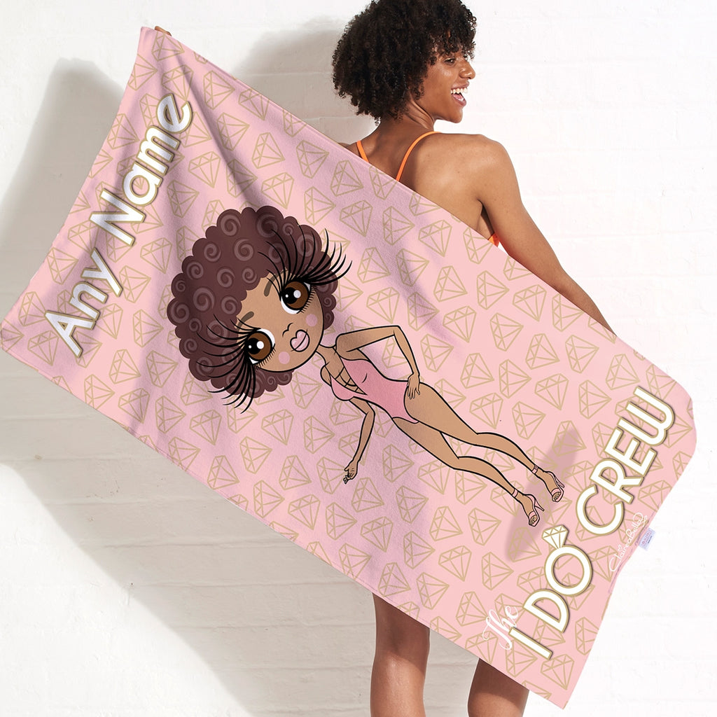 ClaireaBella I Do Crew Beach Towel - Image 1