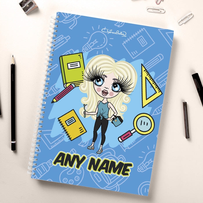 ClaireaBella Girls Essentials Blue Notebook - Image 1