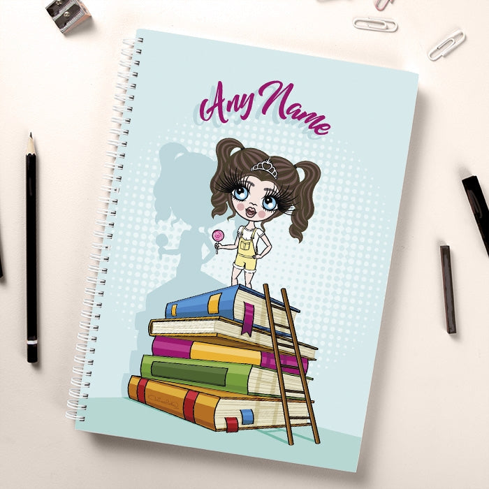 ClaireaBella Girls Tower of Books Notebook - Image 1