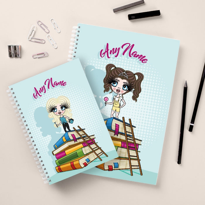 ClaireaBella Girls Tower of Books Notebook - Image 3