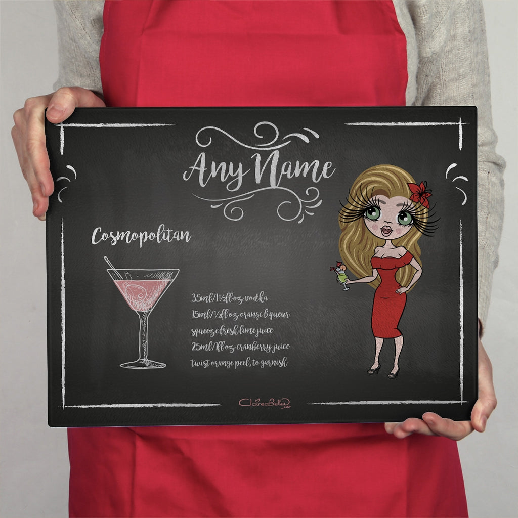 ClaireaBella Landscape Glass Chopping Board - Cocktail - Image 1